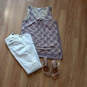 Cabi lace lavender blouse